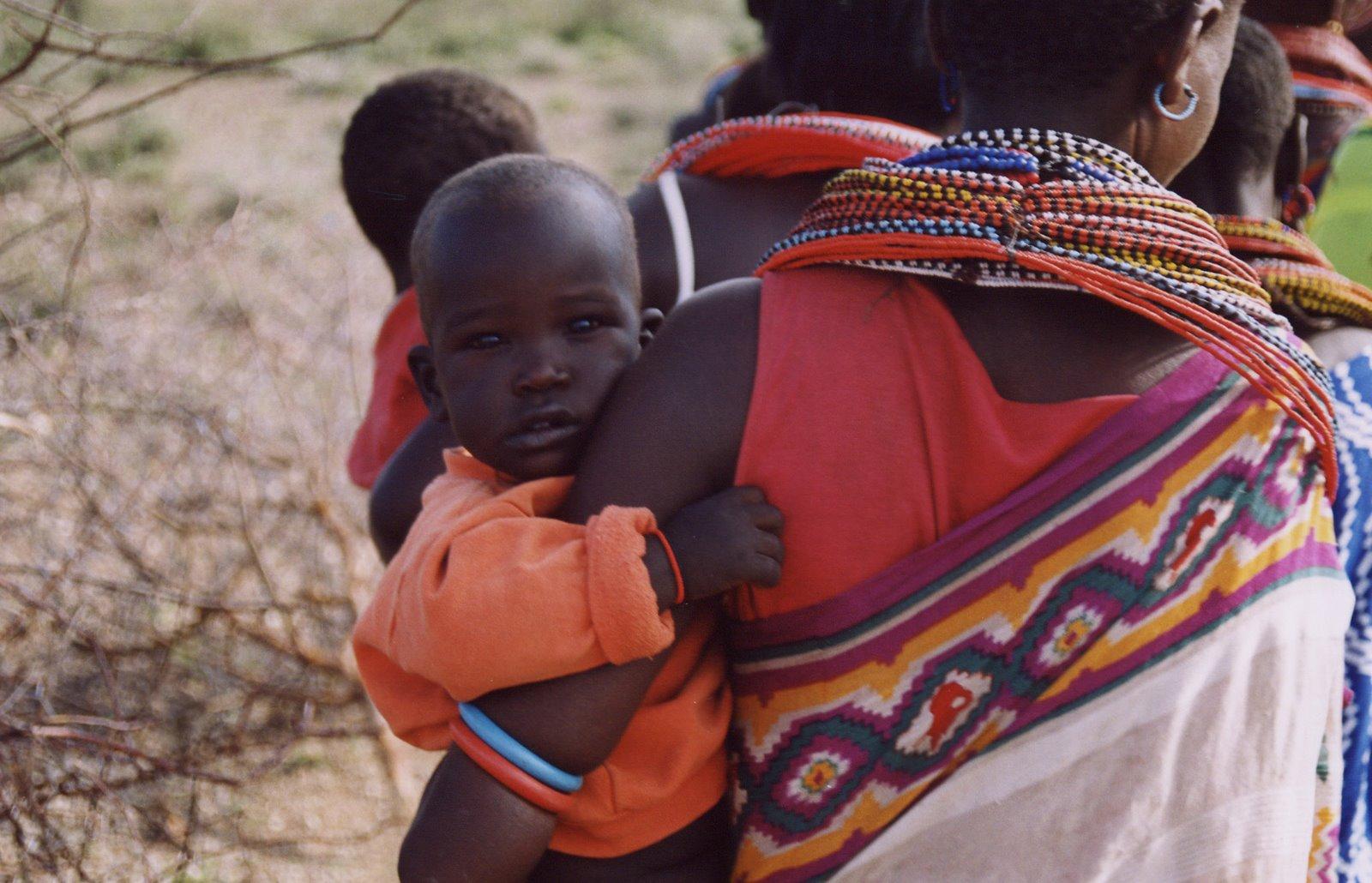 Niño en Kenia Safari